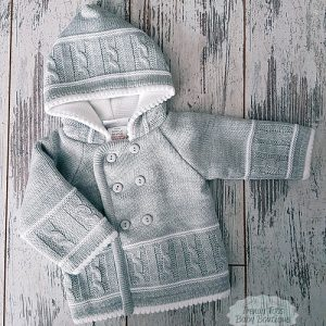 Knitted grey jacket
