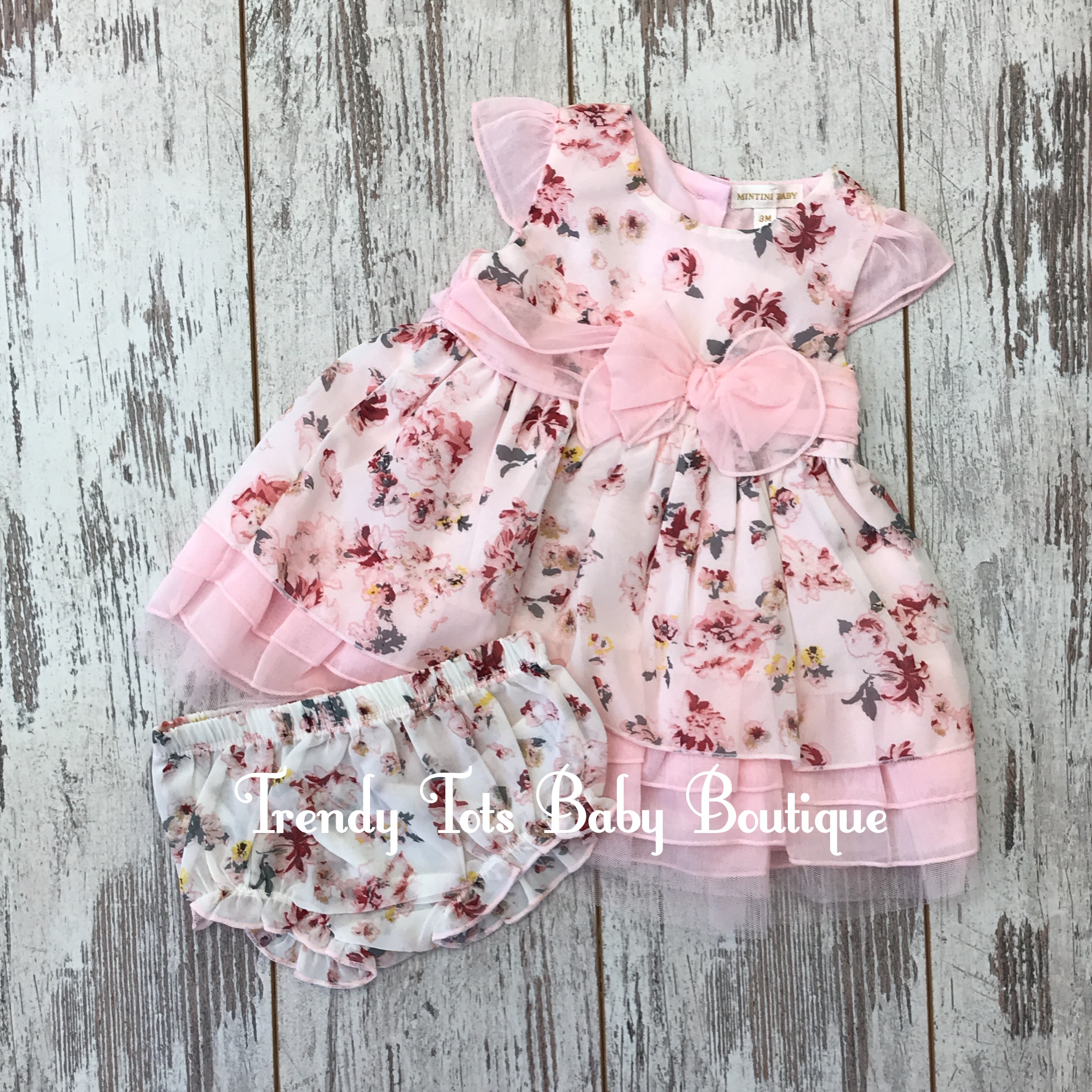 Floral Sun Dress And Knickers Trendy Tots Baby Boutique