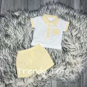 Lemon Bunny 2 Piece Fine Knit Spanish Style Romper Set